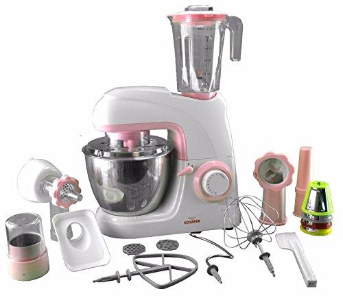 Küchenmaschine mit Standmixer, Knetmaschine und Fleischwolf