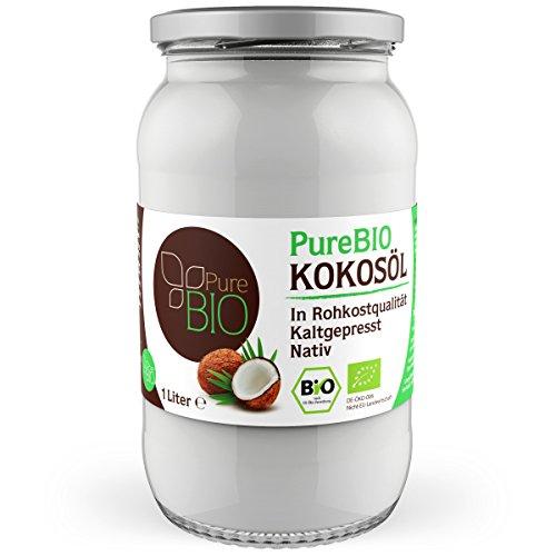 PureBIO Kokosöl (1.000 ml) bio, nativ und kaltgepresst